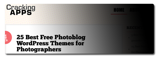 25 Best Free Photoblog WordPress Themes for Photographers