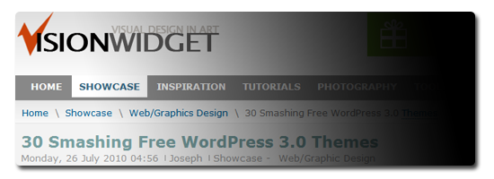 30 Smashing Free WordPress 3.0 Themes